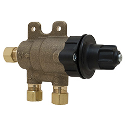 Chicago Faucets 131-ABNF Thermostatic Mixing Valve with Standard 3/8 inch compression inlet and outlet connections