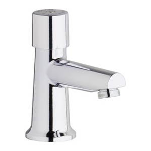 Chicago Faucets 3500-E2805ABCP - Single Hole Mount, Single Supply Metering Sink Faucet