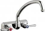 "Chicago Faucets W4W-L9E1-369AB - 4"" Wall Mount Washboard Sink Faucet"