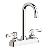 "Chicago Faucets W4D-GN1AE35-369AB - 4"" Deck Mount Washboard Sink Faucet"