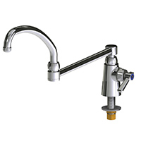 Chicago Faucets 350-DJ21ABCP - Single Supply Sink Faucet with 21-inch Double Joint Swing Spout
