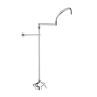Chicago Faucets 511-ABCP - Single Hole Deck Mount, Hot and Cold Water Mixing Pot and Kettle Filler Faucet