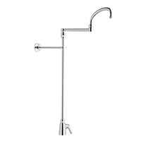 Chicago Faucets 516-ABCP - Single Hole Deck Mount, Single Supply Pot and Kettle Filler Faucet