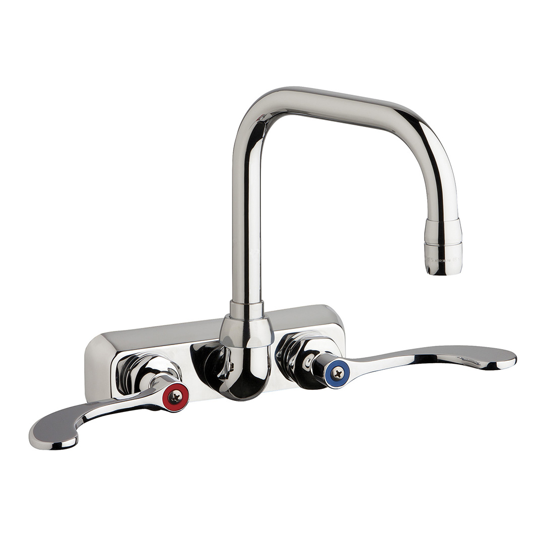 "Chicago Faucets W4W-DB6AE35-317AB - 4"" Wall Mount Washboard Sink Faucet"