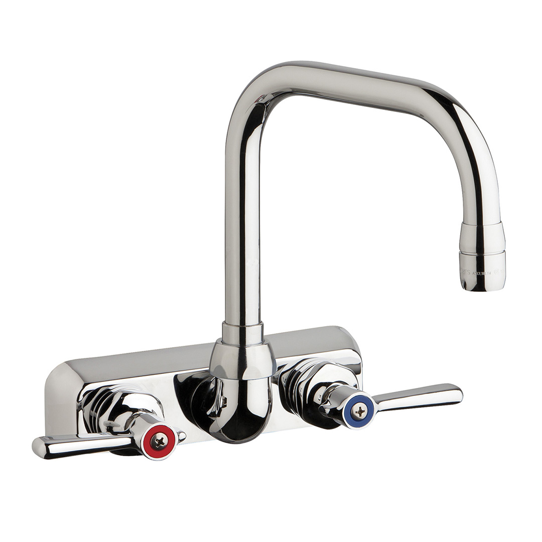 "Chicago Faucets W4W-DB6AE35-369AB - 4"" Wall Mount Washboard Sink Faucet"