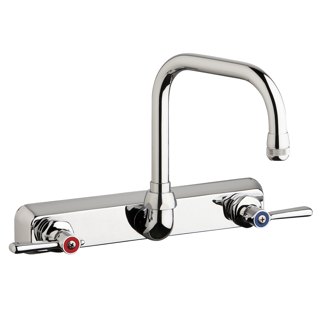 "Chicago Faucets W8W-DB6AE35-317AB - 8"" Wall Mount Washboard Sink Faucet"