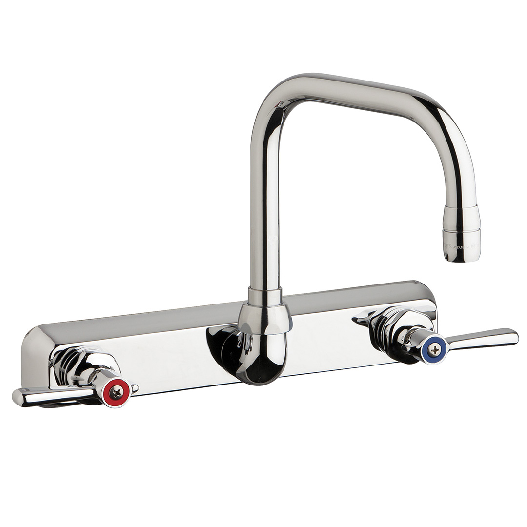 "Chicago Faucets W8W-DB6AE35-369AB - 8"" Wall Mount Washboard Sink Faucet"